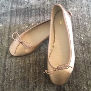 GAP Rose Gold Metallic Ballet Flats